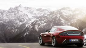 BMW Zagato Coupe Concept Back Pose Near Mountains